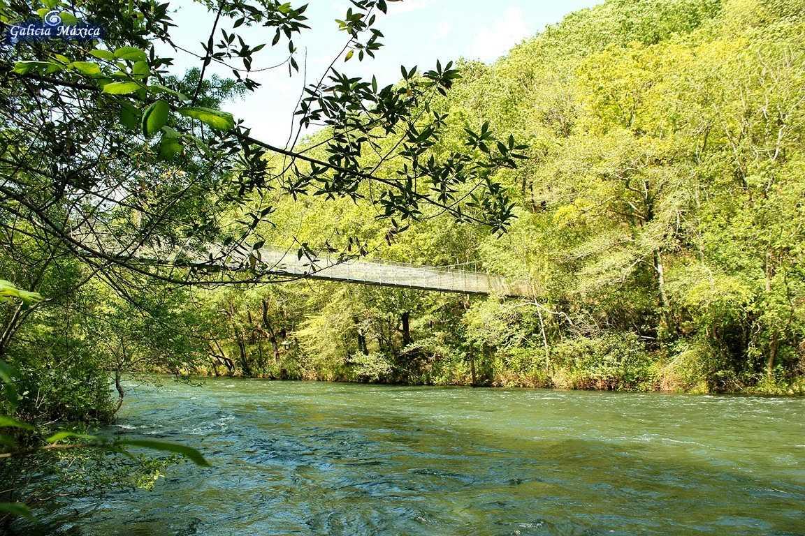 Fragas do Eume, vista del puente colgante