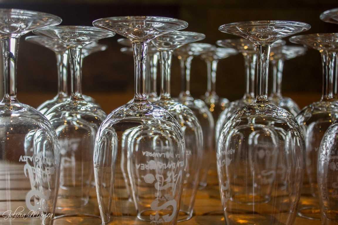 Copas de vino del concello de Arbo