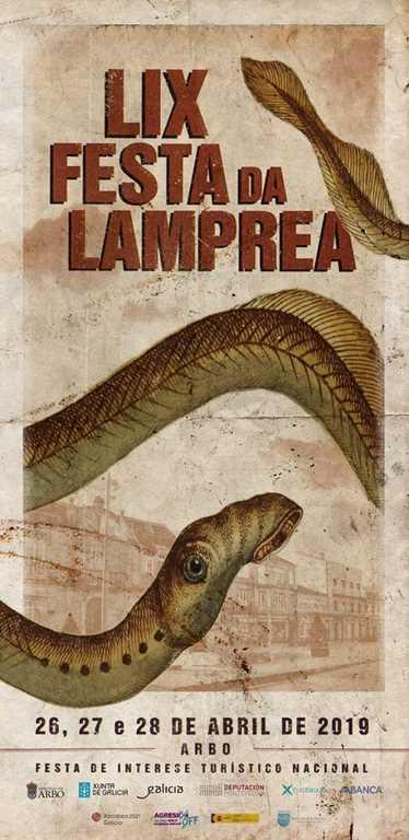 Cartel fiesta de la lamprea 2019