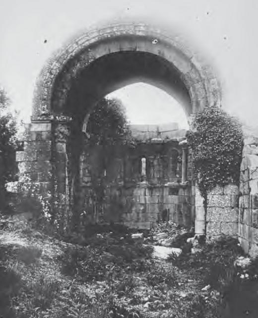 Iglesia de Casteláns antes de su traslado de piezas