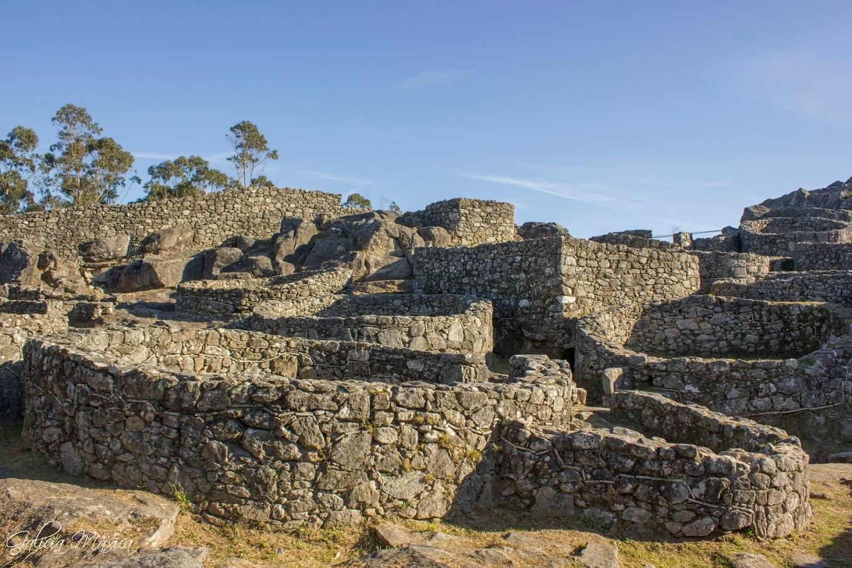 Zona del castro con restos romanizados