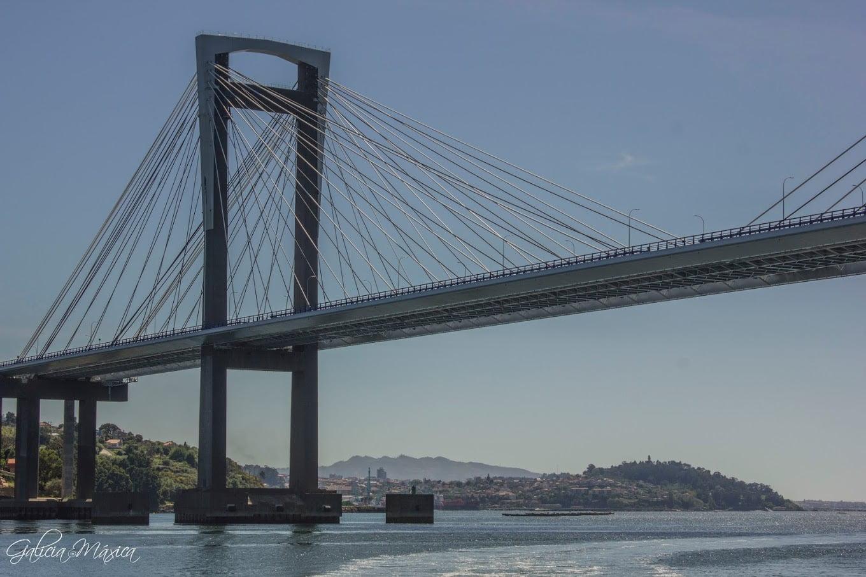 Pila del puente de Rande y tirantes