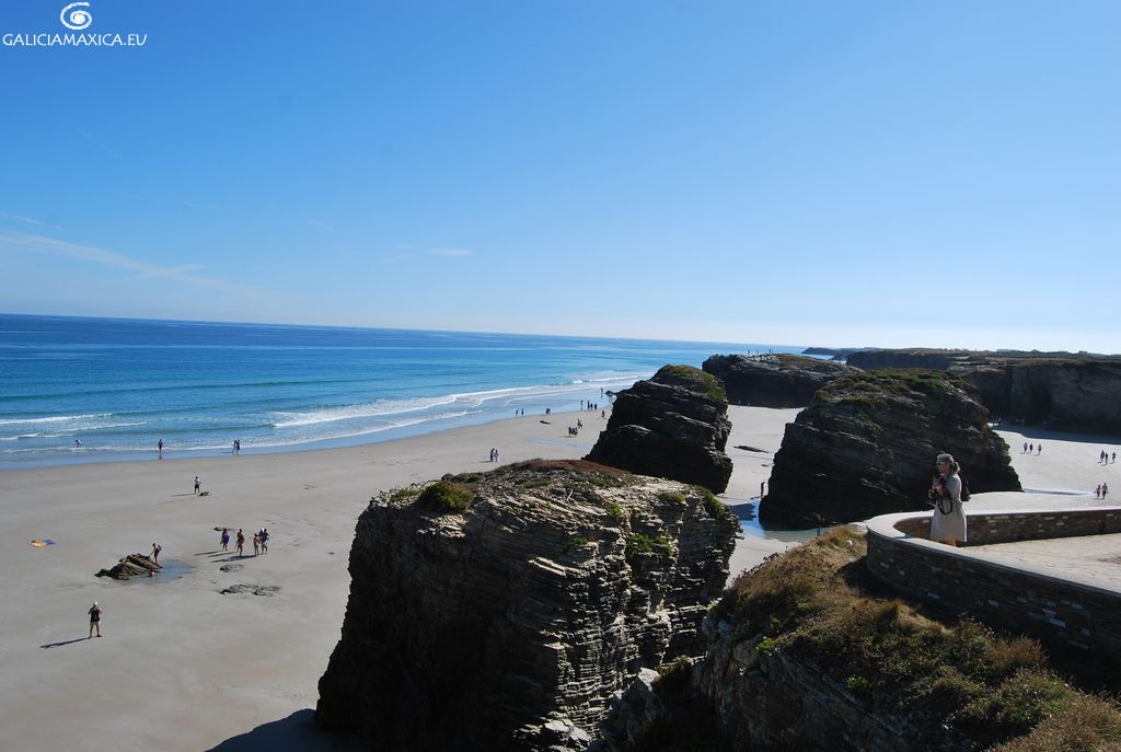 Playa de las Catedrales, formaciones rocosas